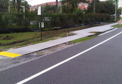 Airport Road (S.R. 102) Sidewalk from Ranch Road to City Center Drive – Jacksonville, Florida